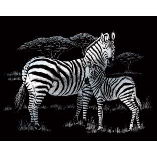 """STANDARD Wydrapywanka srebrna """"Zebra"""""""