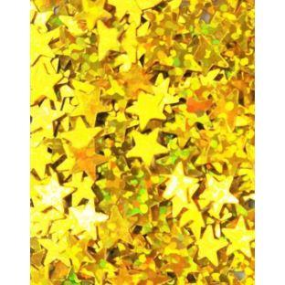 Tuban - Brokat złote gwiazdki
