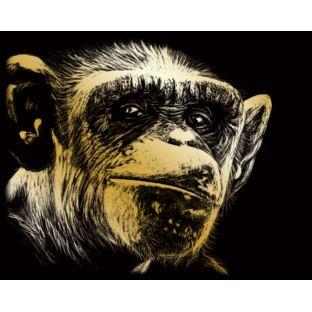 """STANDARD Wydrapywanka złota """"Małpa"""""""