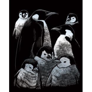 """STANDARD Wydrapywanka srebrna """"Pingwiny"""""""