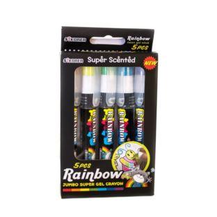 RAINBOW Kredki żelowe - zapachowe 5 kolorów