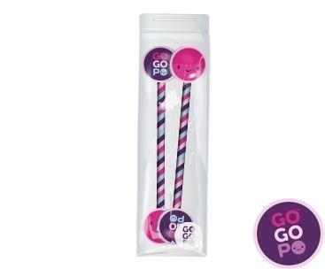 GoGoPo Zestaw Ołówków z gumkami.