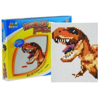 Duża Mozaika z Dinozaurem Kolorowe Pinezki