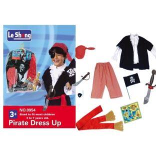 Strój Karnawałowy Pirata Kostium z Akcesoriami