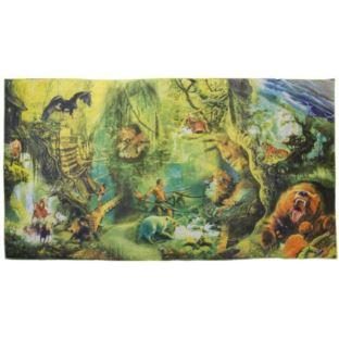 Mata Dywan Koc Na Podłogę Dżungla 108 cm x 58 cm