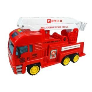 Auto Straż Pożarna z Wysuwaną Drabiną Jeździ