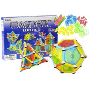 Klocki Magnetyczne Magnetic World 110 Elementów
