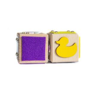 KM Klocki Sensoryczne Zestaw 2 sztuk Fiolet/Żołty