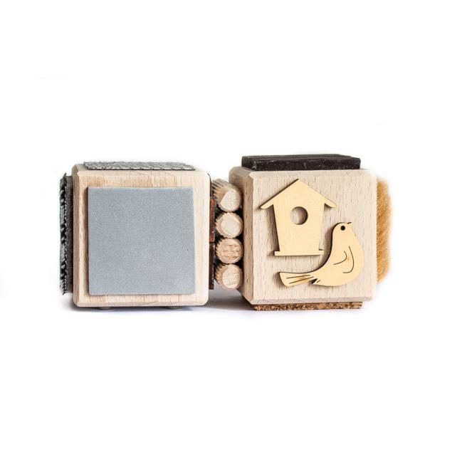 KM Klocki Sensoryczne Zestaw 2 sztuk Brąz/Szary