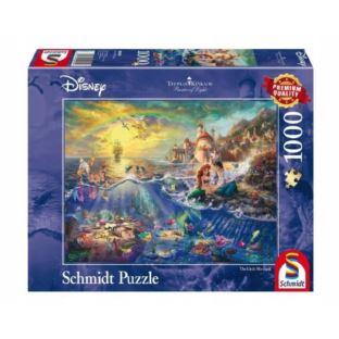 Puzzle 1000 Disney Syrenka Arielle Schmidt Spiele