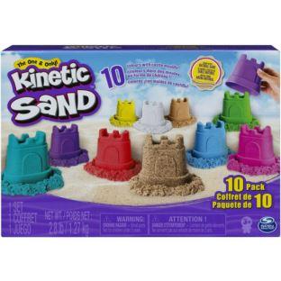 Kinetic Sand-różne kolory z foremkami na zamek