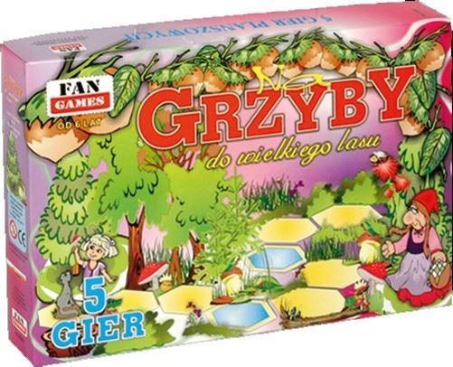"""FAN """"GRY PLANSZOWE - 5 SZTUK Na Grzyby do Lasu"""""""