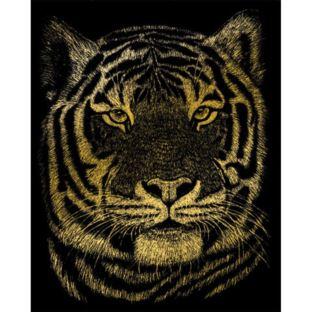 """STANDARD Wydrapywanka złota """"Tygrys Bengalski"""""""
