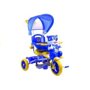 Rower Trójkołowy Kotek Niebieski Dla Dzieci Rowere