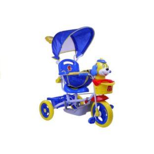 Rower Trójkołowy Piesek Niebieski Dla Dzieci Rower