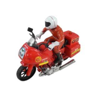 Motocykl Ścigacz ze Strażakiem Światła Dźwięki
