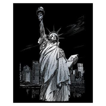 """STANDARD Wydrapywanka srebrna """"Statua Wolności"""""""