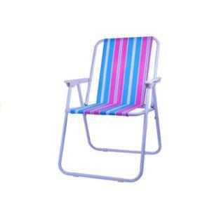 Krzesło Turystyczne Krzesełko Ogrodowe Różowe Pasy