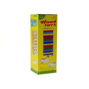 Gra Zręcznościowa Wieża Jenga Drewniana 48 Klocków