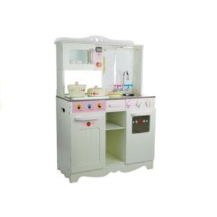Kuchnia drewniana Ania biało-różowa Piekarnik