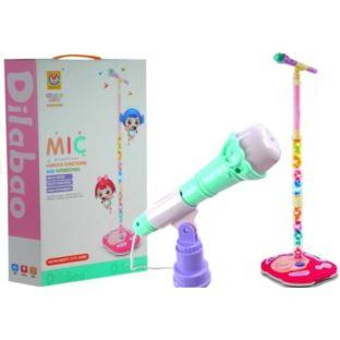 Mikrofon na Stojaku Swiecący Statyw 130cm