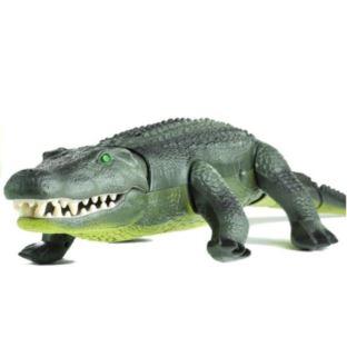 Zdalnie Sterowany Aligator R/C Chodzi Duży Zielony