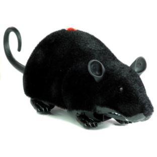 Mysz Sterowana Pilotem R/C Na Kółkach Duża Czarna