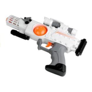 Kosmiczna Broń Pistolet Miecz Maska Gra + Świeci