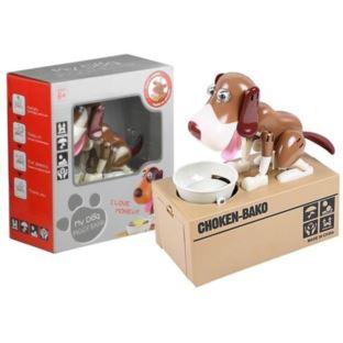 Skarbonka Pies Zjadający Monety Jasnobrązowy