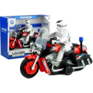Motocykl Policyjny Ścigacz Ruchome Koła Gra Świeci