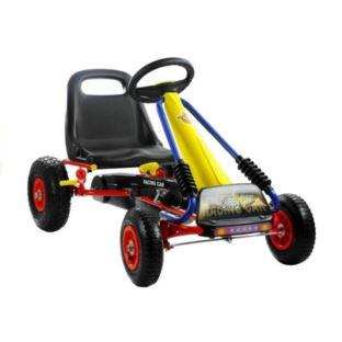 Gokart Turbo Żółty Pompowane Koła Hamulec Dla Dzie